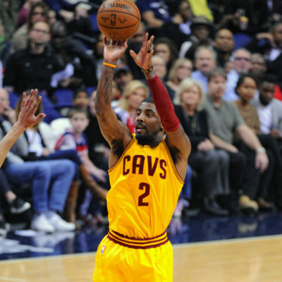 28 February 2016:  Cleveland Cavaliers guard Kyrie Irving (2) scores against the Washington Wizards at the Verizon Center in Washington, D.C. where the Washington Wizards defeated the Cleveland Cavaliers, 113-99.  (Photograph by Icon Sportswire)